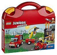 Конструктор Lego Juniors Чемоданчик Пожарная команда 10740 Fire Patrol Suitcase Building Set, фото 1