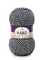 Nako Super Inci Hit чорно-синій мулинэ № 21380