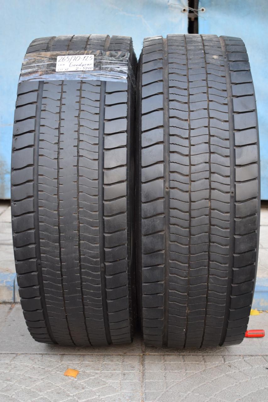 Грузовые шины б/у 265/70 R17.5 Goodyear, ТЯГА, пара