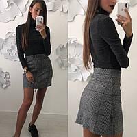 Женский красивый костюм: гольф и юбка (можно по отдельности) (4 цвета), фото 1