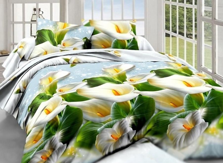 Полуторный комплект постельного белья 3D (150х220, бязь полиэстер)