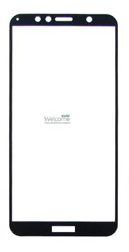 Защитное стекло HUAWEI Y6 (2018)/Y6 Prime 2018 Full Glue (0.3 мм, 2.5D, с олеофобным покрытием) black, захисне скло
