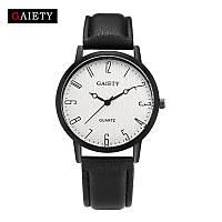 Женские наручные кварцевые часы c черным ремешком 87610