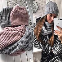 Женский стильный набор: шапка + бафф (4 цвета), фото 1