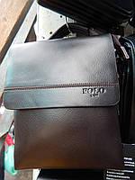 Мужская сумка через плечо от фирмы Polo кожаный клапан опт розница, фото 1