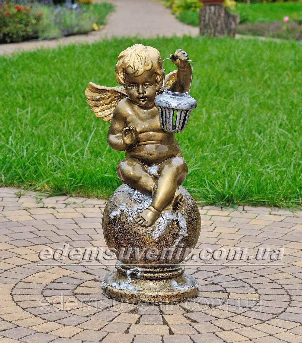 Фигура Ангел с фонарем