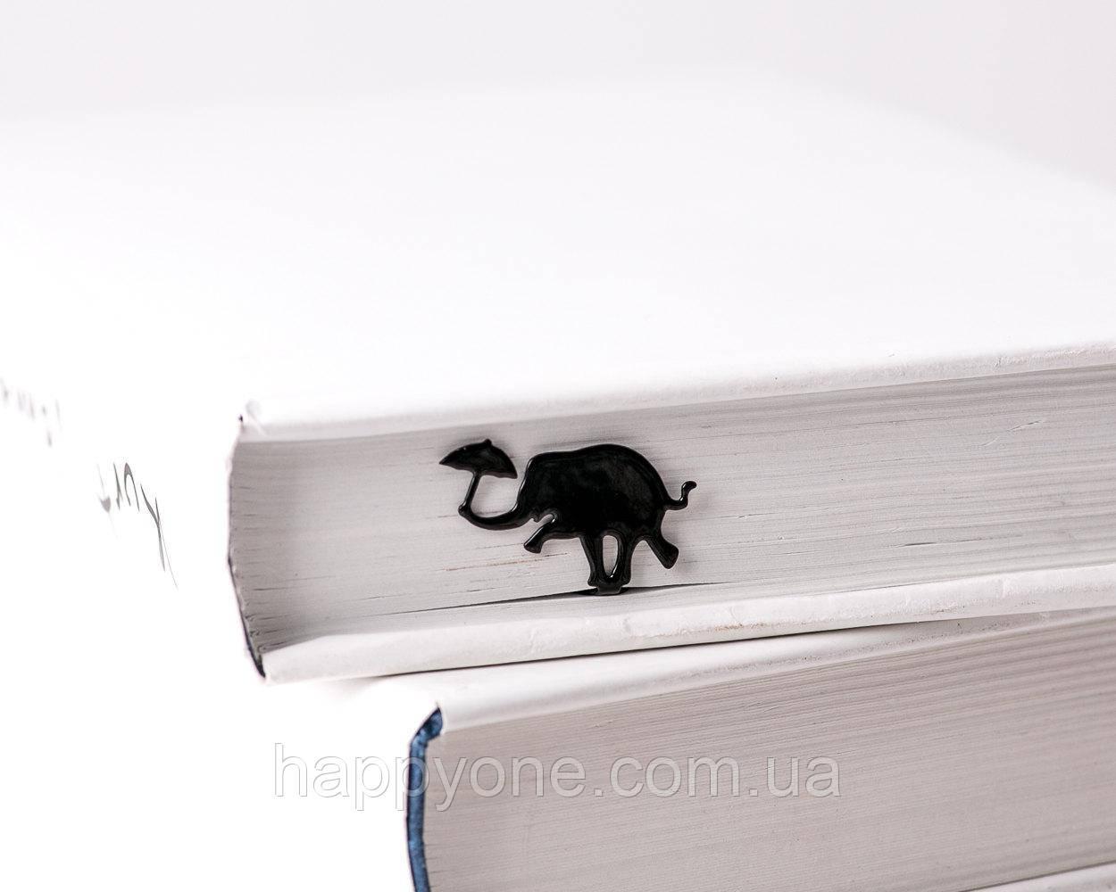 Закладка для книг Слон с зонтом