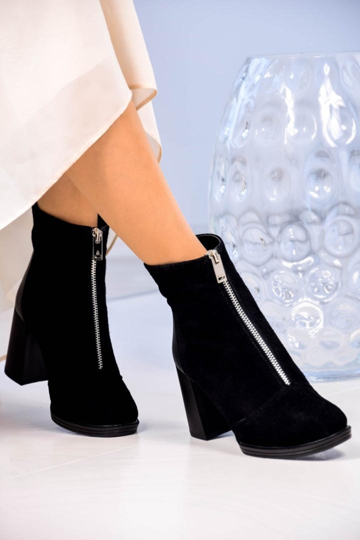 Демисезонные замшевые женские ботинки