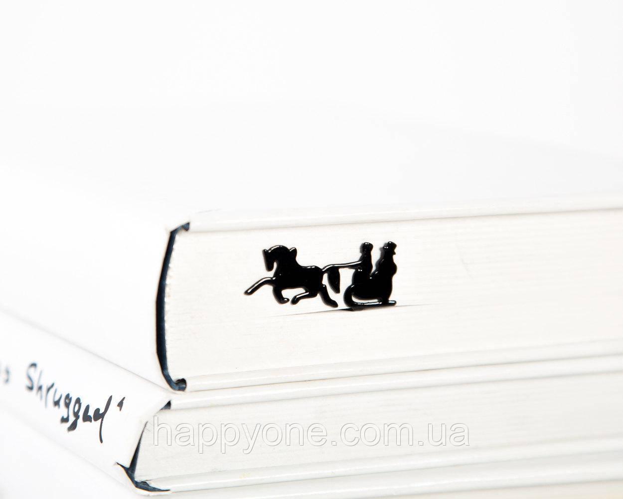 Закладка для книг Зимние сани