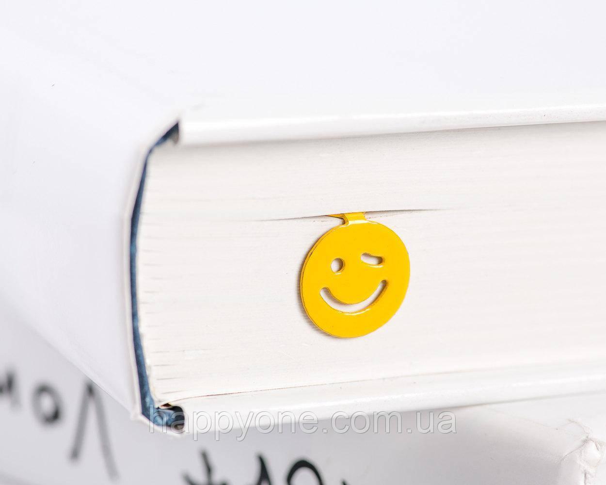 Закладка для книг Подмигивающий Смайл