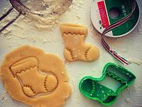 Форма для печенья 3Д новогодняя Носочек