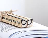 Закладка для книг Очки Кошачий глаз, фото 2