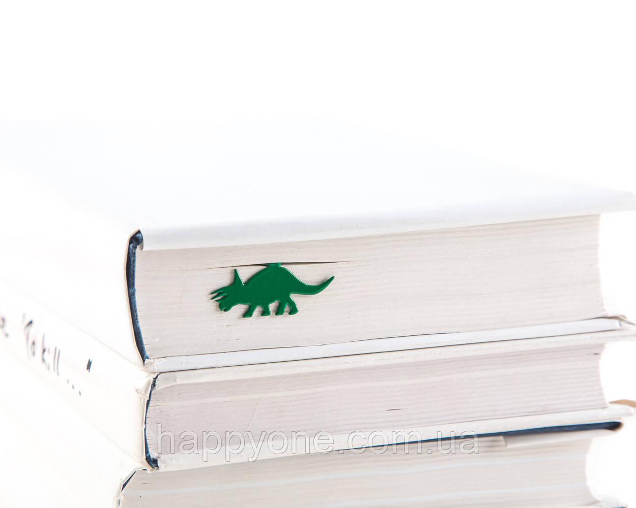 Закладка для книг Динозавр Трицератопс