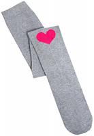 Колготки с сердечком, Duna, светло-серые 146-152 (31-34) (988/146-152,76-80,20-2)