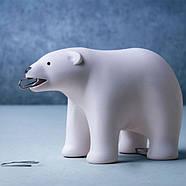 Держатель для скотча и скрепок Brown Bear Qualy (белый), фото 4