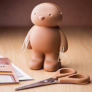 Ножницы и держатель для скрепок Teddy Bear Qualy, фото 2