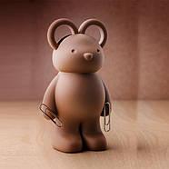Ножницы и держатель для скрепок Teddy Bear Qualy, фото 3