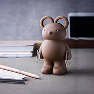 Ножницы и держатель для скрепок Teddy Bear Qualy, фото 4