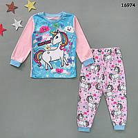 "Пижама ""Единорог"" для девочки. 2 года, фото 1"