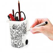 Органайзер для ручек и карандашей Wheelie Bin Desk Tidy DIY Luckies, фото 3