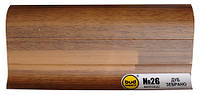 Плинтус напольный матовый 2.5м матовый Budmonster н26 дуб зебрано