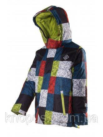 Зимняя термокуртка для  мальчиков в клетку, Pidilidi