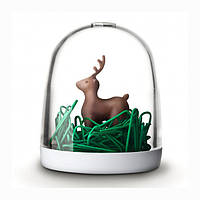 Диспенсер для скрепок Deer in The Forest Qualy