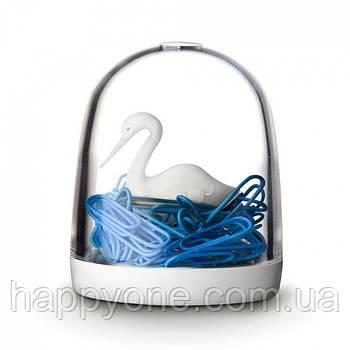 Диспенсер для скрепок Swan in The Pond Qualy