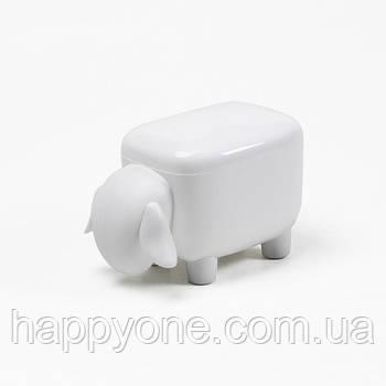 Контейнер Sheepshape Container Junior Qualy (белый)
