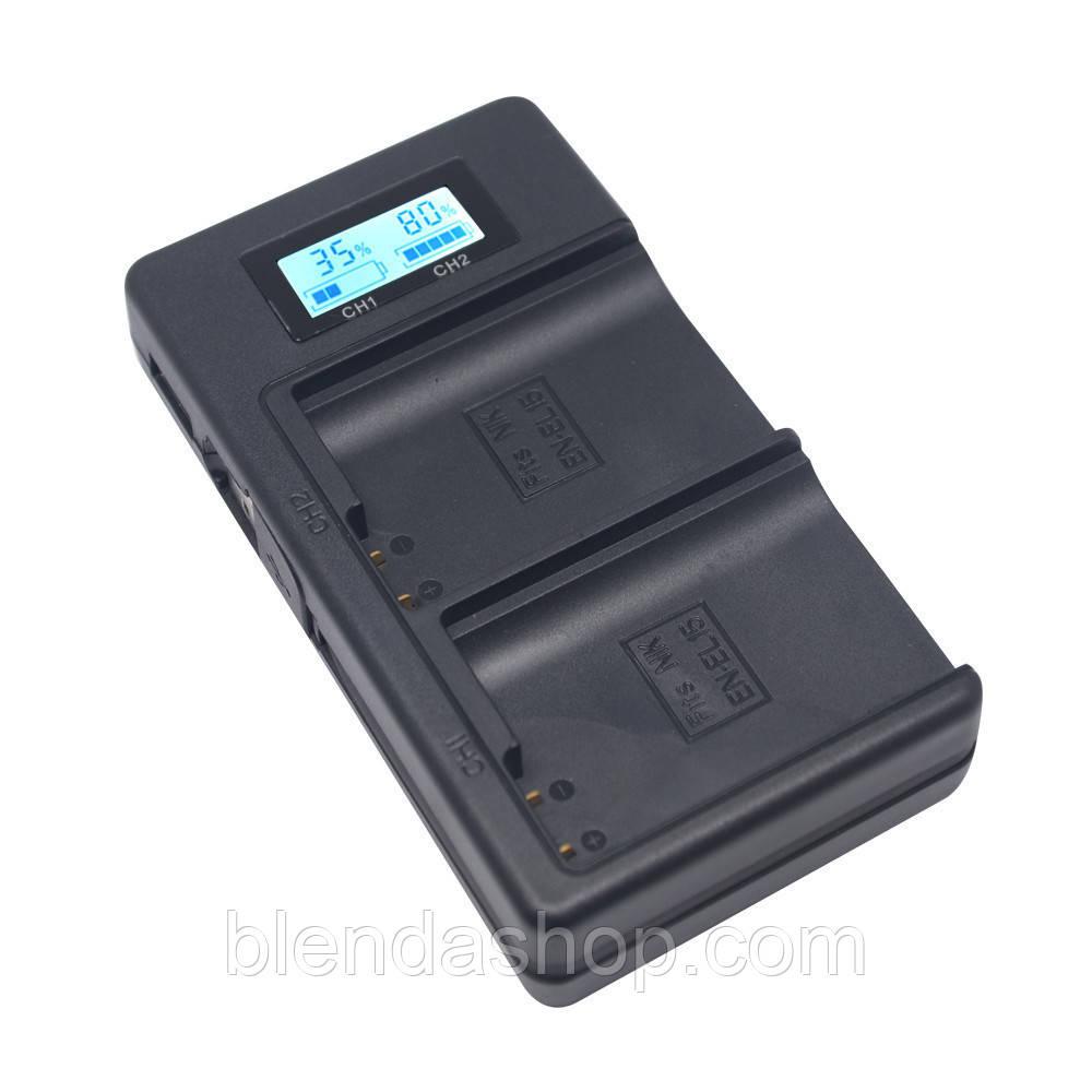 Зарядное устройство Mcoplus DH-EL15 с USB для 2-х аккумуляторов Nikon EN-EL15