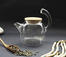 Чайник стекло + сито пружина 700 мл. 18,5*11*15 см.