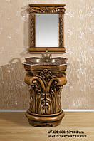 Мойдодыр в эксклюзивном дизайне с зеркалом ,краном, мойкой и гранитной столешницей,  VG428