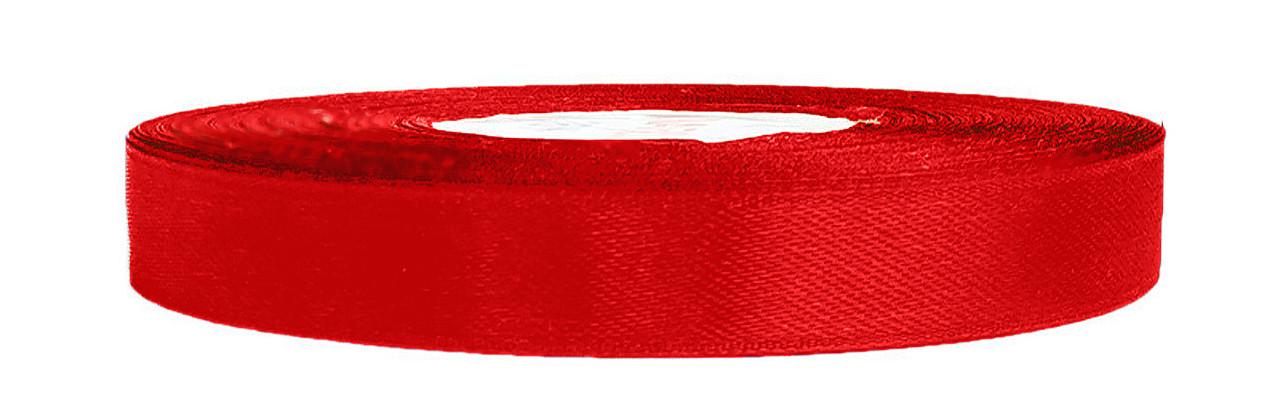 Атласная лента красная 1,2 см