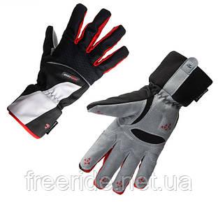 Велосипедные перчатки зимние Robesbon (XL) windstopper черно-красные