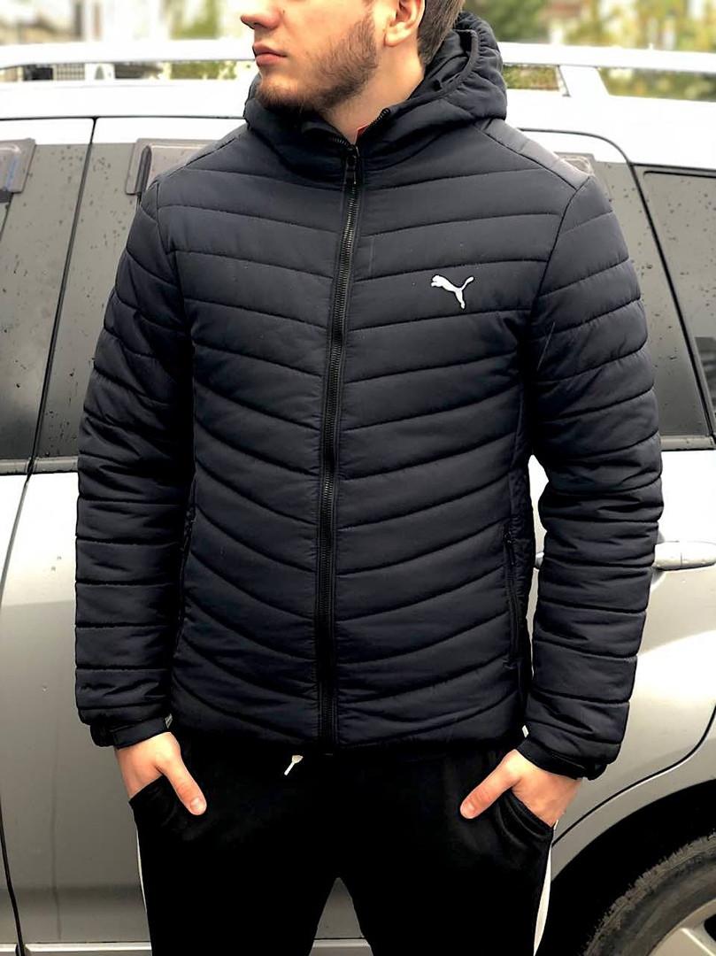 18a3effbf0fbdd Мужская куртка зимняя пуховик Puma Пума темно-синяя (реплика) - Что почём?