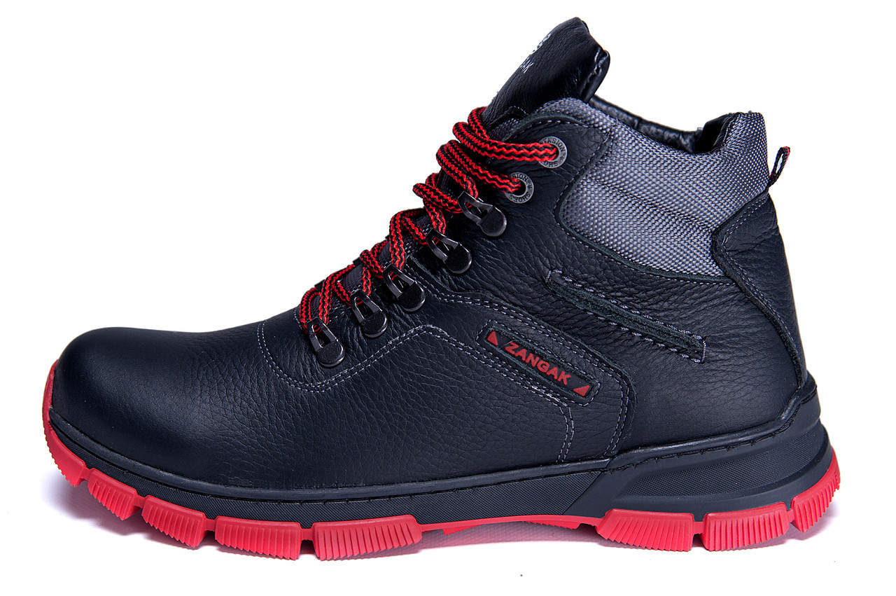Мужские зимние кожаные ботинки ZG Flotar Red Line