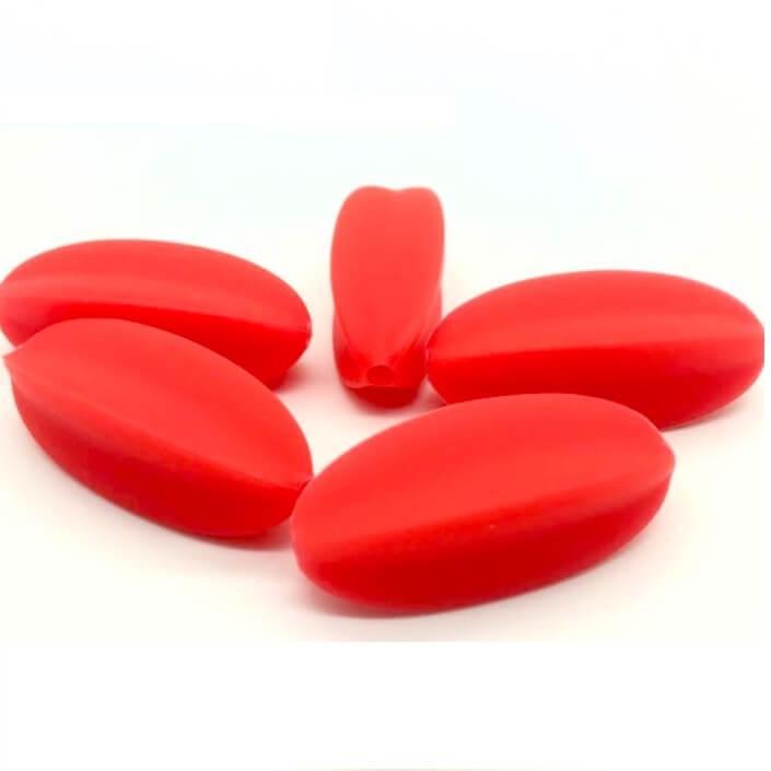 Карамболь (красный) бусина из силикона