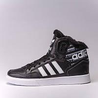"""Кроссовки мужские  Adidas Extaball Winter """"Black/White"""" (в стиле адидас) черные"""
