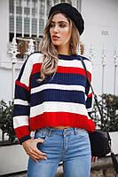Женский модный свитер разноцветный (4 расцветки), фото 1