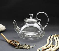 Чайник стекло + сито пружина 1000 мл. 21*15*13 см