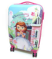 """Детский чемодан дорожный, кодовый замок """"Принцесса"""" София 20"""" на четырех колесах 520329"""