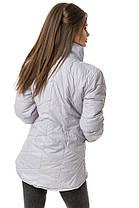 """Практичная женская куртка плащевка, 200 селикон, рукав-трансформер Серая. (2 цвета) Р-ры 42-46. (130)""""Селфи"""". , фото 2"""