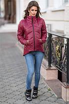 """Практичная женская куртка плащевка, 200 селикон, рукав-трансформер Серая. (2 цвета) Р-ры 42-46. (130)""""Селфи"""". , фото 3"""