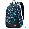 Рюкзак черный с синими треугольниками с пеналом и сумкой в комплекте, фото 3