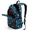 Рюкзак черный с синими треугольниками с пеналом и сумкой в комплекте, фото 4