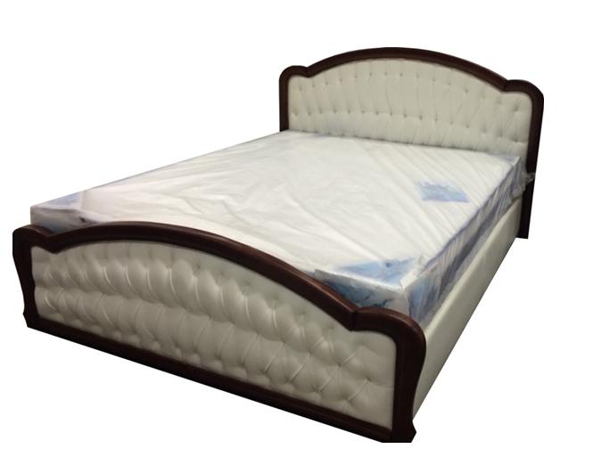Ліжко двоспальне з м'якою спинкою без матрацу з підйомним механізмом 160х200 Силена-2 Sofa
