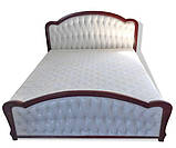 Ліжко двоспальне з м'якою спинкою без матрацу з підйомним механізмом 160х200 Силена-2 Sofa, фото 2