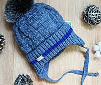 Зимняя детская шапка на мальчика,флис, фото 1