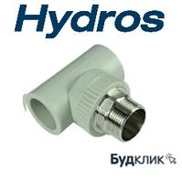 Трійник під ключ з НР 63*2*63 HydroS Чехія