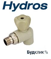 Hydros Чехия Полипропиленовый Кран Радиаторный Угловой 25Х3/4